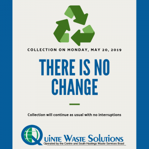 There is no change to victoria day collection